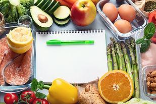 Healthy diet eating plan. Meal planning.