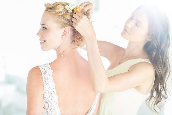 wedding and bride hair
