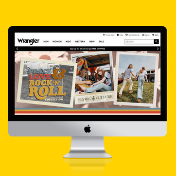 Peace, Love, and Rock N Roll Collection by Wrangler