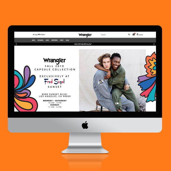 Wrangler x Fred Segal Landing Page