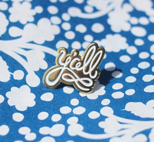 Y'all Enamel Pin Design