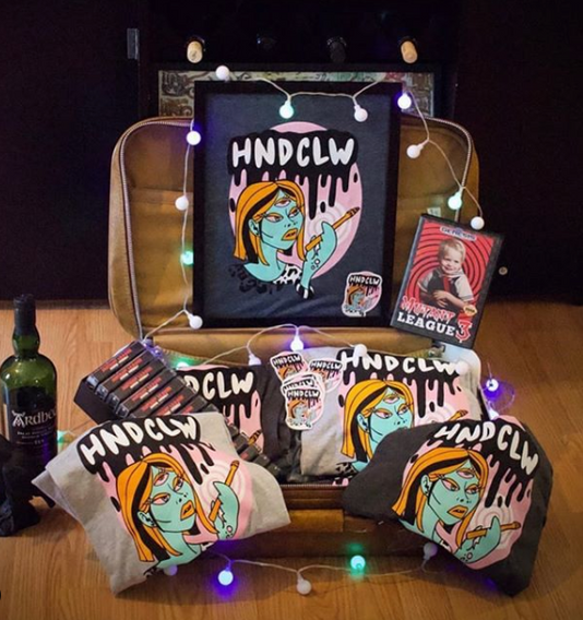 HNDCLW Band Tee & Stickers