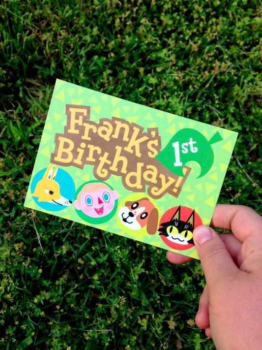 Frank's 1st Birthday Invitation