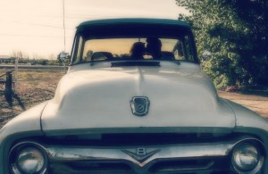 Vintage Car:Couple Softened