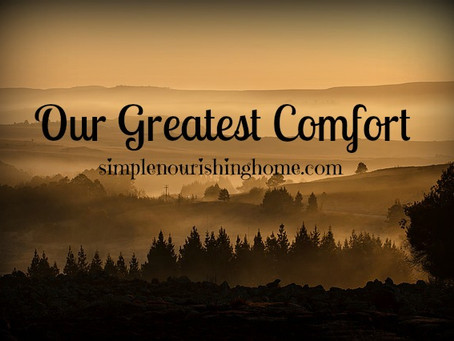 Our Greatest Comfort
