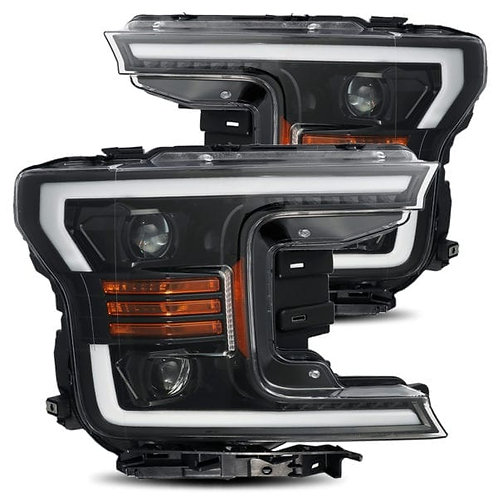 PRO-Series Projector headlights for 2018-2019 Ford F150 - Jet Black