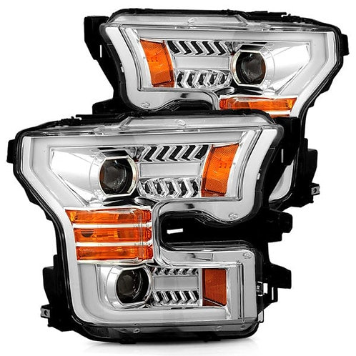 PRO-Series Projector headlights for 2015-2017 Ford F150 - Chrome