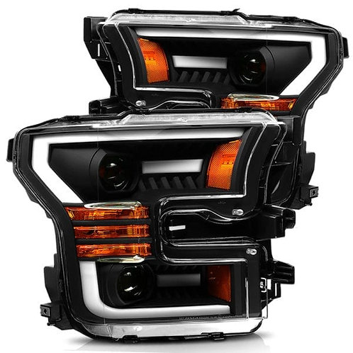 PRO-Series Projector headlights for 2015-2017 Ford F150 - Black