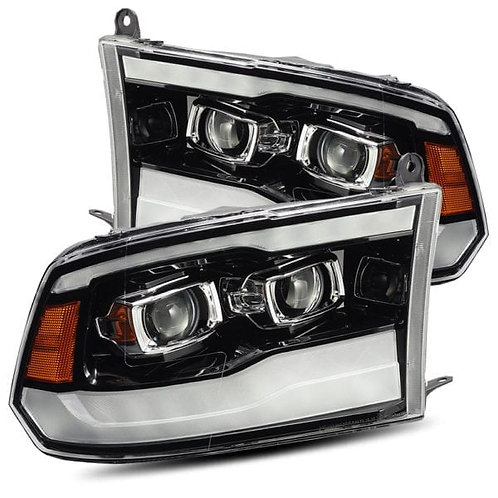 PRO-Series Projector headlights for 2009-2018 Dodge Ram - Jet Black