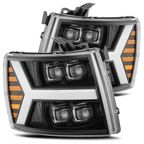 NOVA-Series Full LED headlights for 07-13 Chevy Silverado - Jet Black