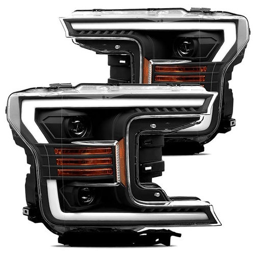 PRO-Series Projector headlights for 2018-2019 Ford F150 - Black