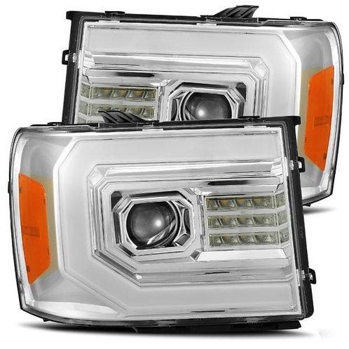 PRO-Series Projector headlights for 2007-2013 GMC Sierra - Chrome