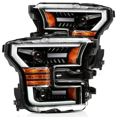 PRO-Series Projector headlights for 2015-2017 Ford F150 - Jet Black