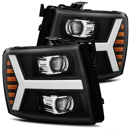 PRO-Series Projector headlights for 07-13 Chevy Silverado - Black
