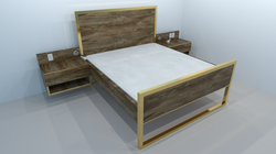 ashley abode bed and nightstands