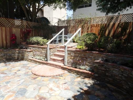 flagstone patio garden