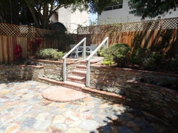 flagstone patio garden