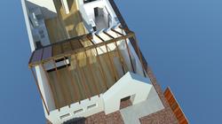 cutaway exposed beam