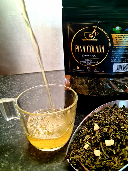 pina colada green tea pineapple coconut taste trusTEA