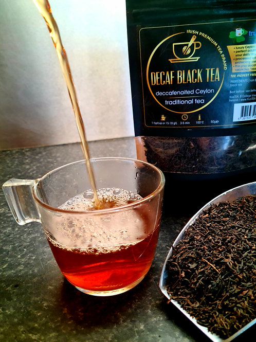 decaffeinated black tea decaf ceylon black tea trusTEA