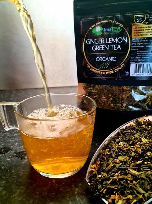 ginger lemon green tea organic green tea trusTEA