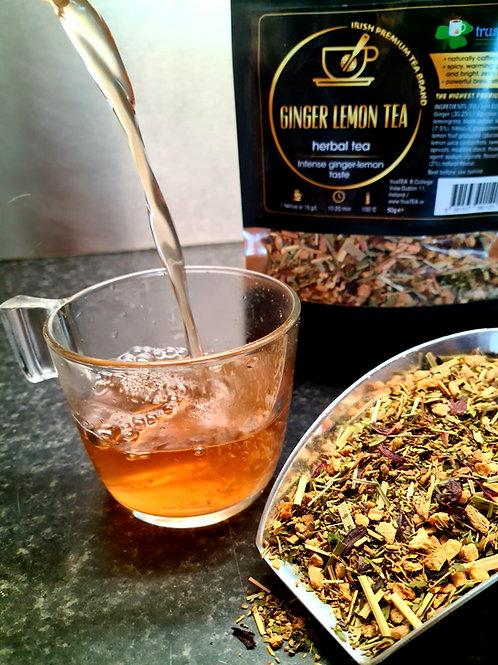 ginger lemon tea herbal tea trusTEA
