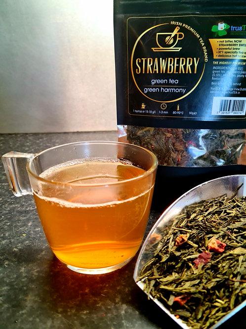 strawberry green tea green harmony trusTEA