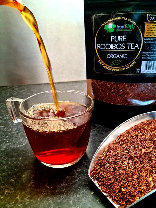 pure rooibos tea organic herbal tea organic red bush tea trusTEA