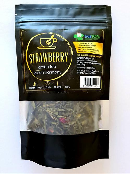 STRAWBERRY GREEN TEA- strawberry taste
