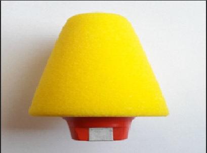 קונוס ליטוש (הברגה) צהוב