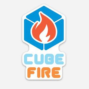 CubeFire sticker