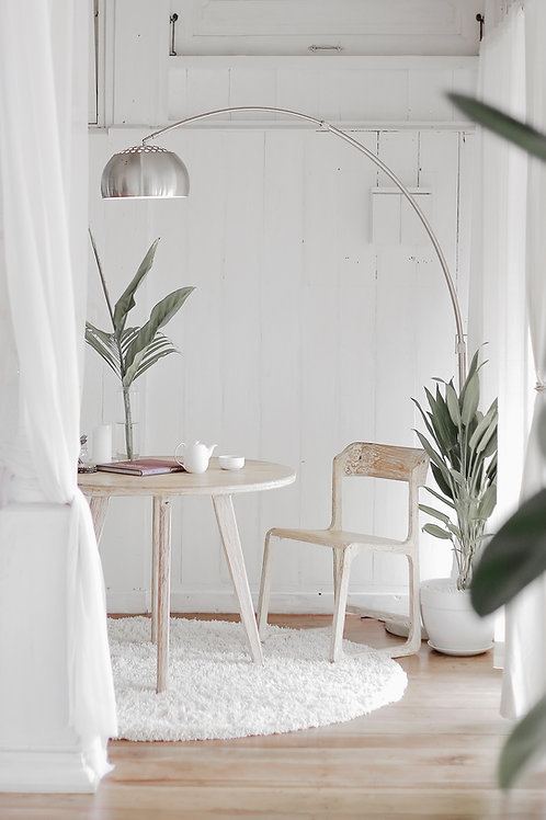 White Breakfast Table