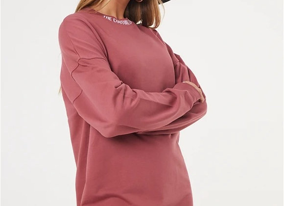 Unisex Oversize Collar with Piping Sweat pink