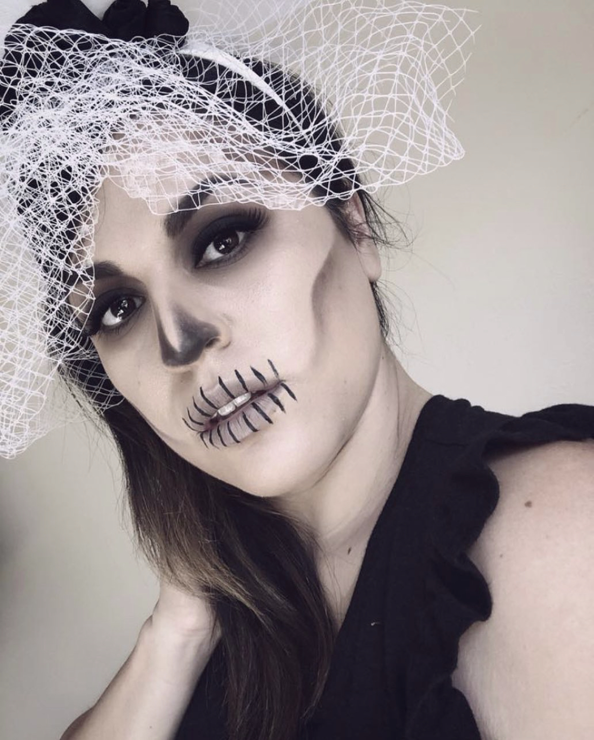Skeleton Bride makeup