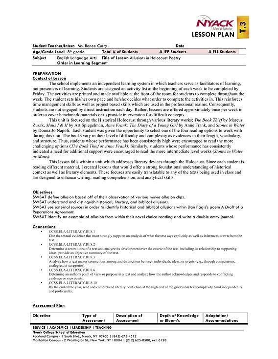 reneekegleyteacher – Allusion Worksheet