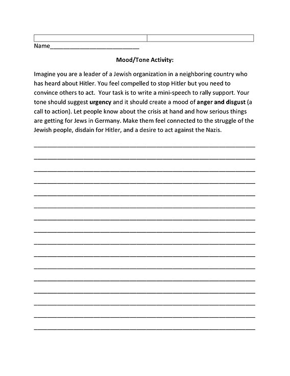 reneekegleyteacher – Mood and Tone Worksheets