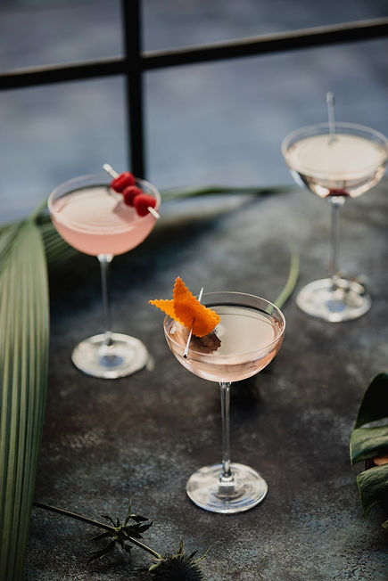 side-view-pink-cocktails-decorated-with-