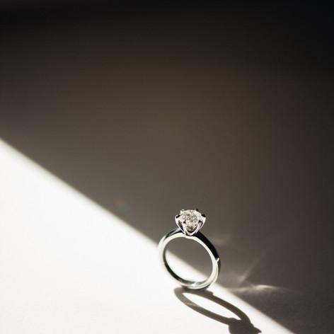 1.3 Carat Round Brilliant Cut Diamond Set in Platinum