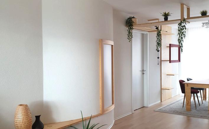 Un mur peu conventionnel côté salon