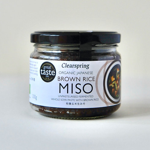 Miso Organic Japanese Brown Rise Miso, Clearspring 300g