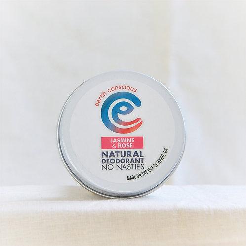 Earth Conscious Natural Deodorant Jasmin and Rose