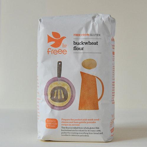 Wholegrain Buckwheat Flour Freee Doves 1kg