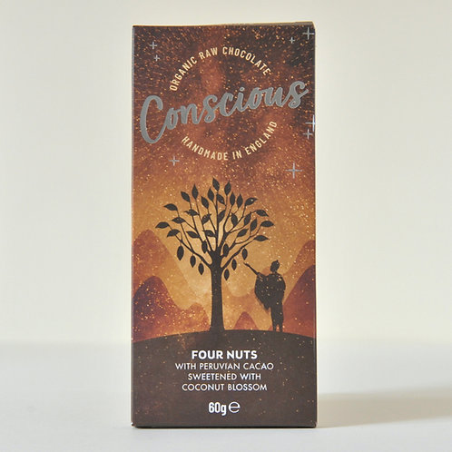 Conscious Chocolate Four Nuts 60g