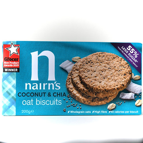 Nairns Coconut & Chia Oat Biscuits 200g