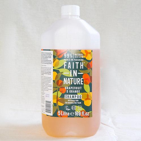 Faith in Nature Grapefruit and Orange Shampoo per litre