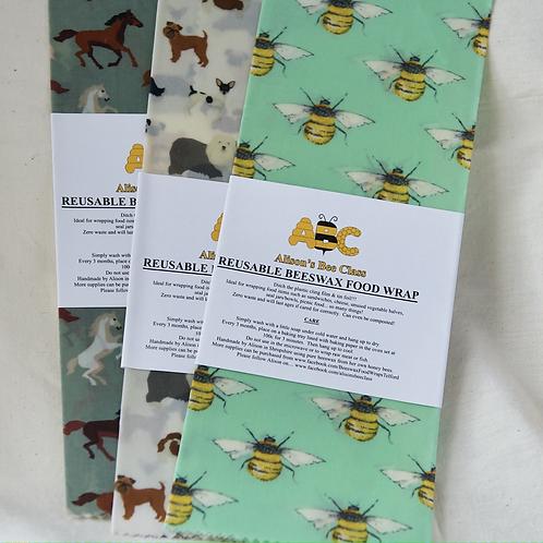 Reuseable Beeswax Food Wrap