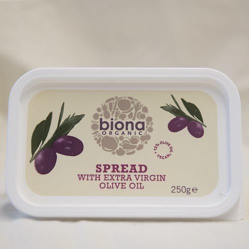 Spread with Extra Virgin Olive Oil (soya free) Biona