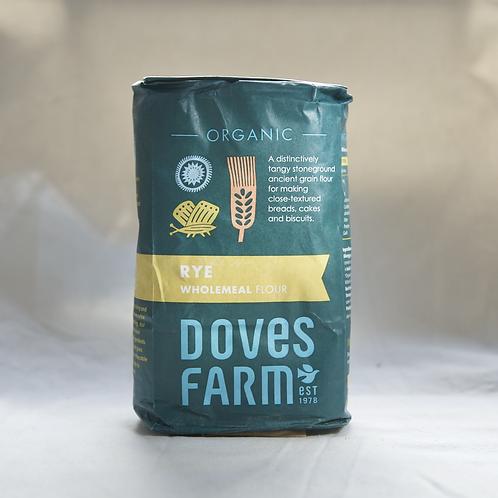 Organic Wholegrain Rye Flour Doves Farm 1kg