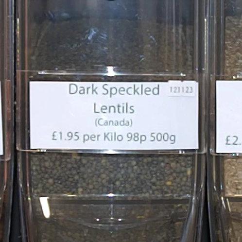 Dark Speckled Lentils loose - per kilo