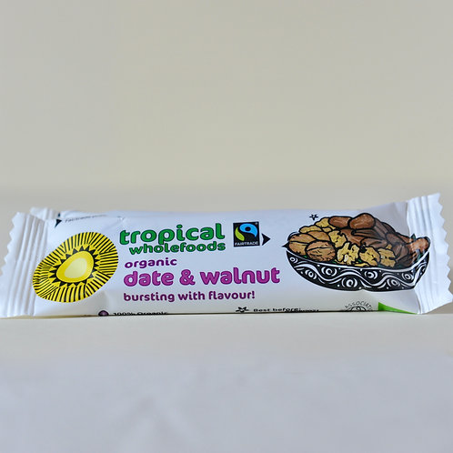Tropical Wholefoods Date and Walnut Bar (40g)